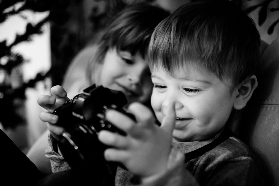 Lena i Kuba, blog rodzinny, blog dziecięcy, moda dziecięca, fotografia dziecięca - Po drugiej stronie obiektywu