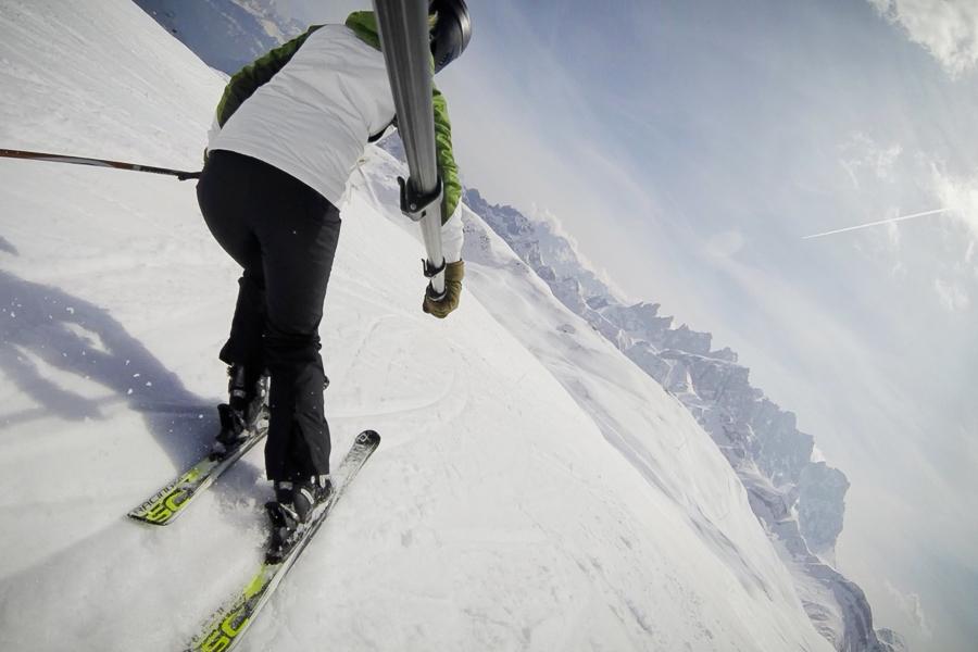 narty, Voelkl, narty Alpy, Dolomity, COl Margherita